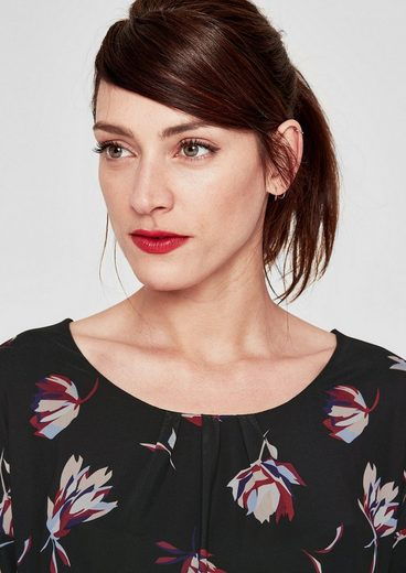 s.Oliver RED LABEL Gemustertes Mesh-Shirt mit 3/4-Arm