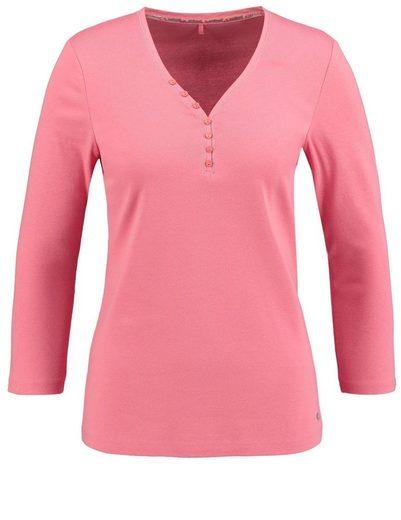 Gerry Weber T-Shirt 3/4 Arm 3/4 Arm Shirt aus reiner Baumwolle