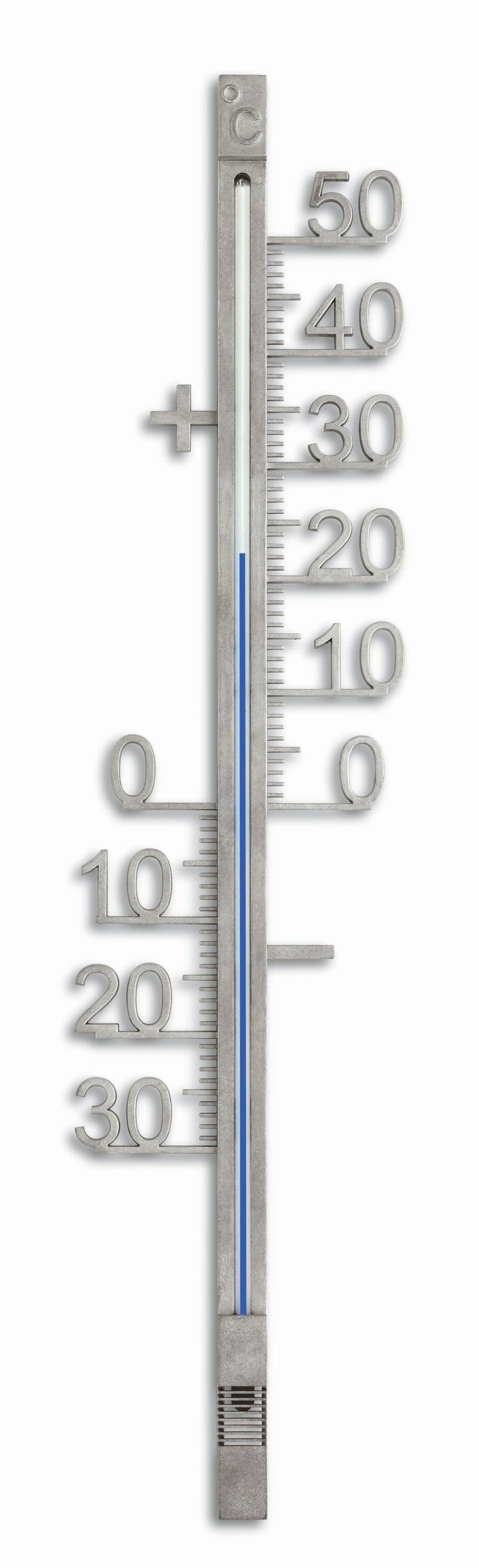 Analoges Außenthermometer aus Metall