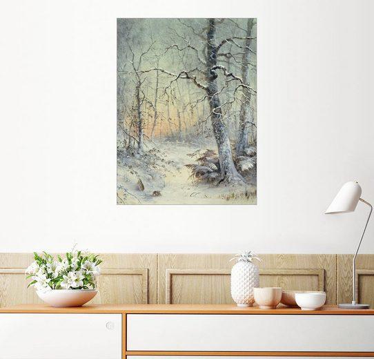 Posterlounge Wandbild - Joseph Farquharson »Winter Frühstück«