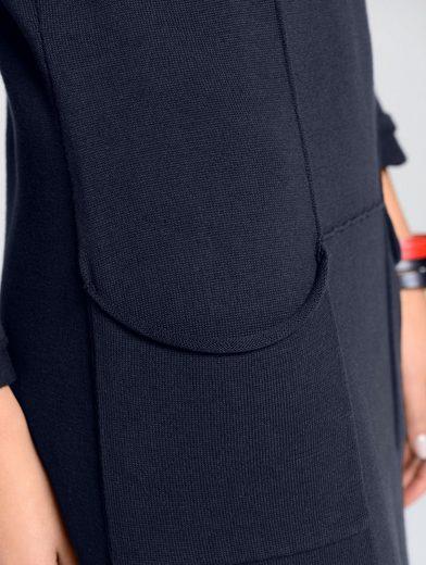 Alba Moda Strickkleid aus trageangenehmer reiner Baumwolle