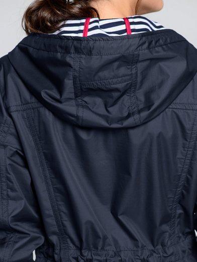Alba Moda Jacke mit sportiv geringeltem Innenfutter