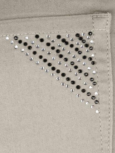 MIAMODA Hose mit Dekosteinchen auf den Taschen vorne und hinten