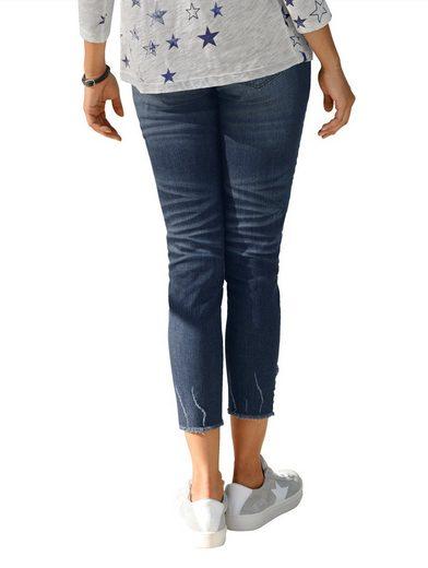 Alba Moda Jeans mit Stern und Nieten am Saum