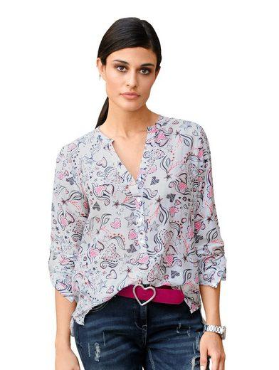 Alba Moda Bluse mit hohem Seidenanteil