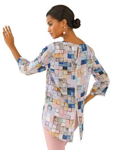 Chemise Imprimée Alba Moda Avec Magnifique Imprimé Graffsichem
