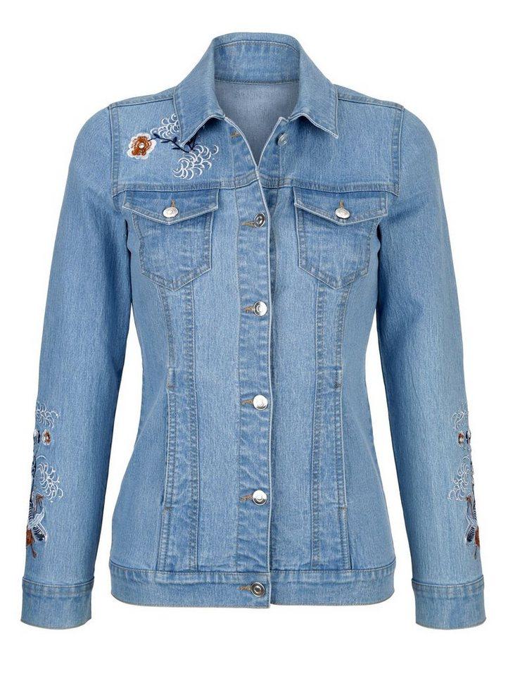 Only jeansjacke stickerei