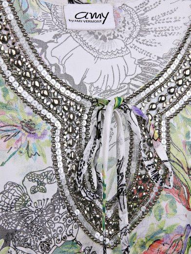 Amy Vermont Tunika mit Perlen und Paillettendekoration
