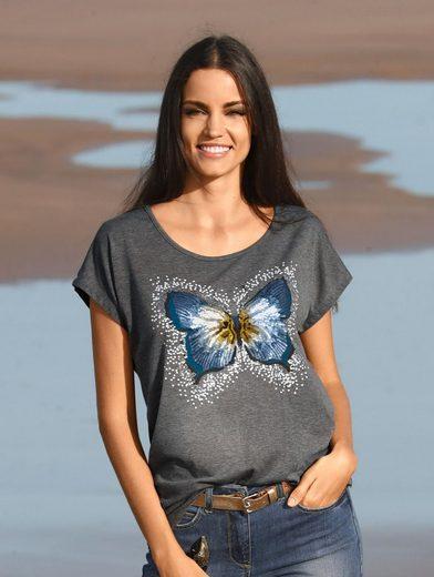 Amy Vermont Shirt mit Schmetterlingsmotiv