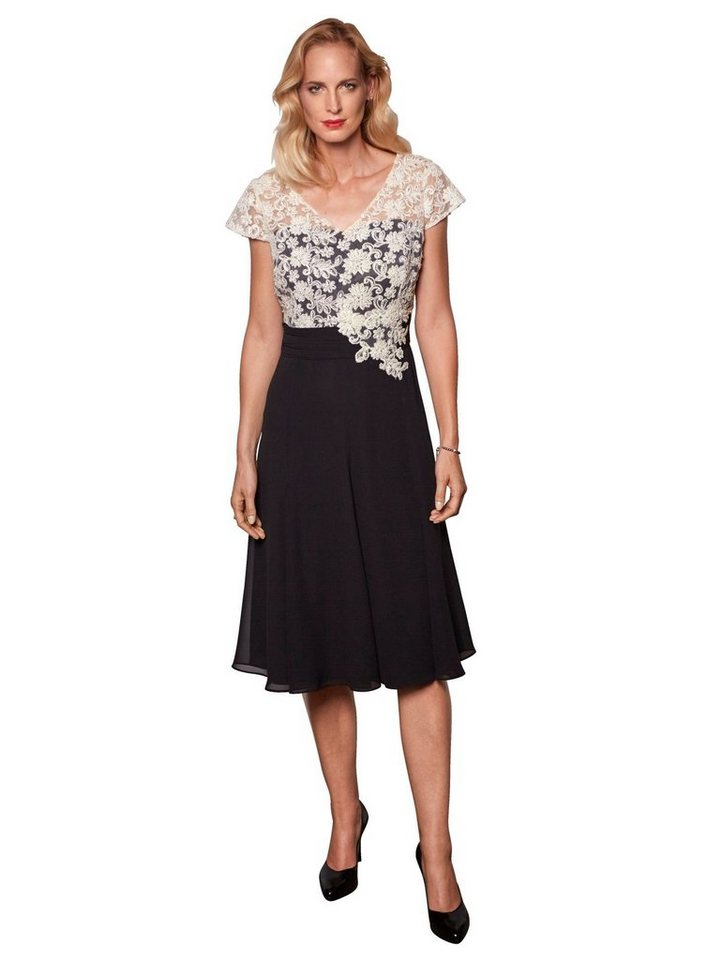 Festtagsmode - Mona Kleid mit Spitzenoberteil › schwarz  - Onlineshop OTTO