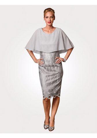 Кружевное платье с сочетание шифона