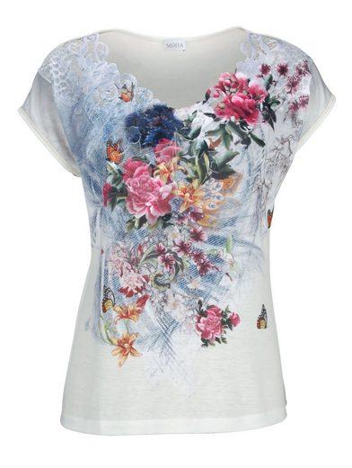 Mona Shirt mit bedruckter Spitze