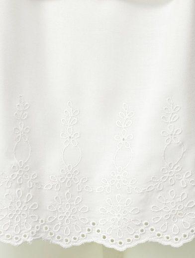 Mona Carmenbluse mit floraler Stickerei