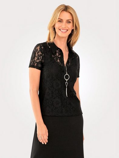 Mona Polo Shirt From Floral Lace