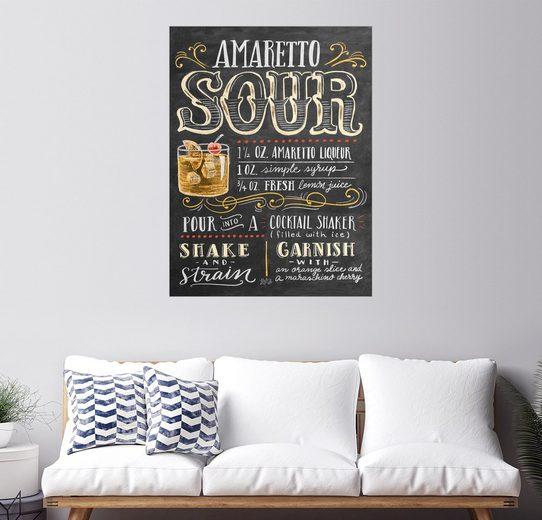Posterlounge Wandbild - Lily & Val »Amaretto-Sour Rezept«