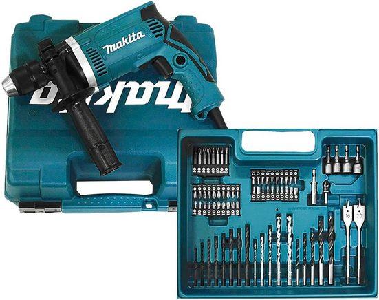 MAKITA Schlagbohrmaschine »HP1631KX3«, inkl. 74-tlg. Zubehörset, 710 W