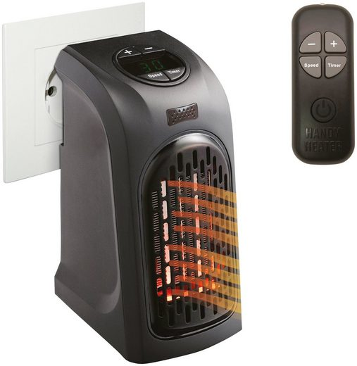 LIVINGTON Heizlüftgerät »Handy Heater«, 370 W, mit Fernbedienung