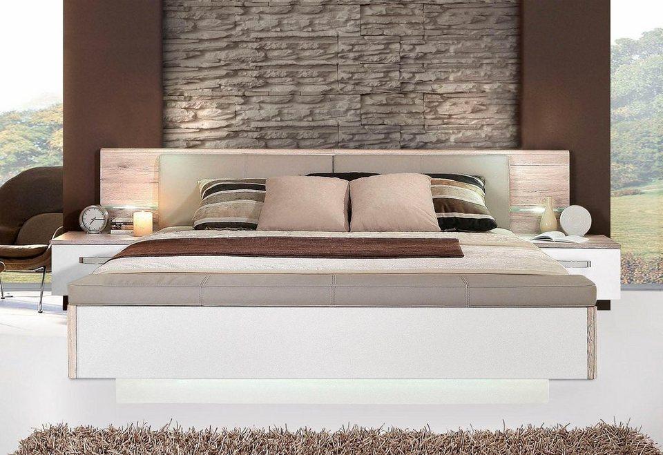 FORTE Schlafzimmer-Set »Rondino,«, mit Polsterkopfteil und LED-Beleuchtung,  wahlweise mit oder ohne Bettbank online kaufen | OTTO