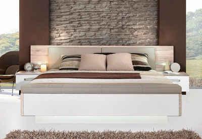 FORTE Bettanlage »Rondino,«, mit Polsterkopfteil und LED-Beleuchtung, wahlweise mit oder ohne Bettbank