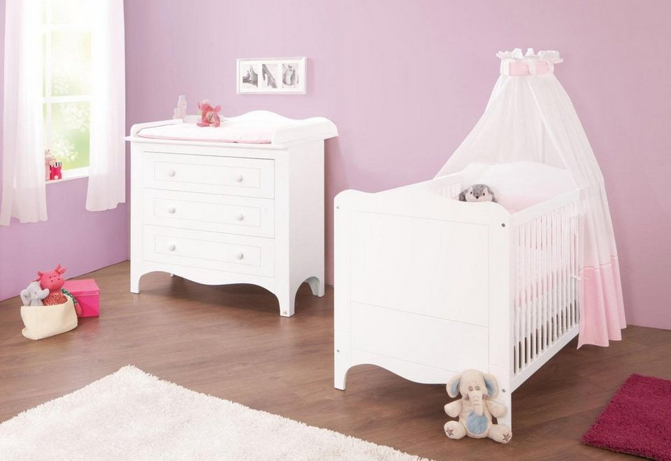 pinolino babyzimmer set 2 tlg sparset fleur breit. Black Bedroom Furniture Sets. Home Design Ideas