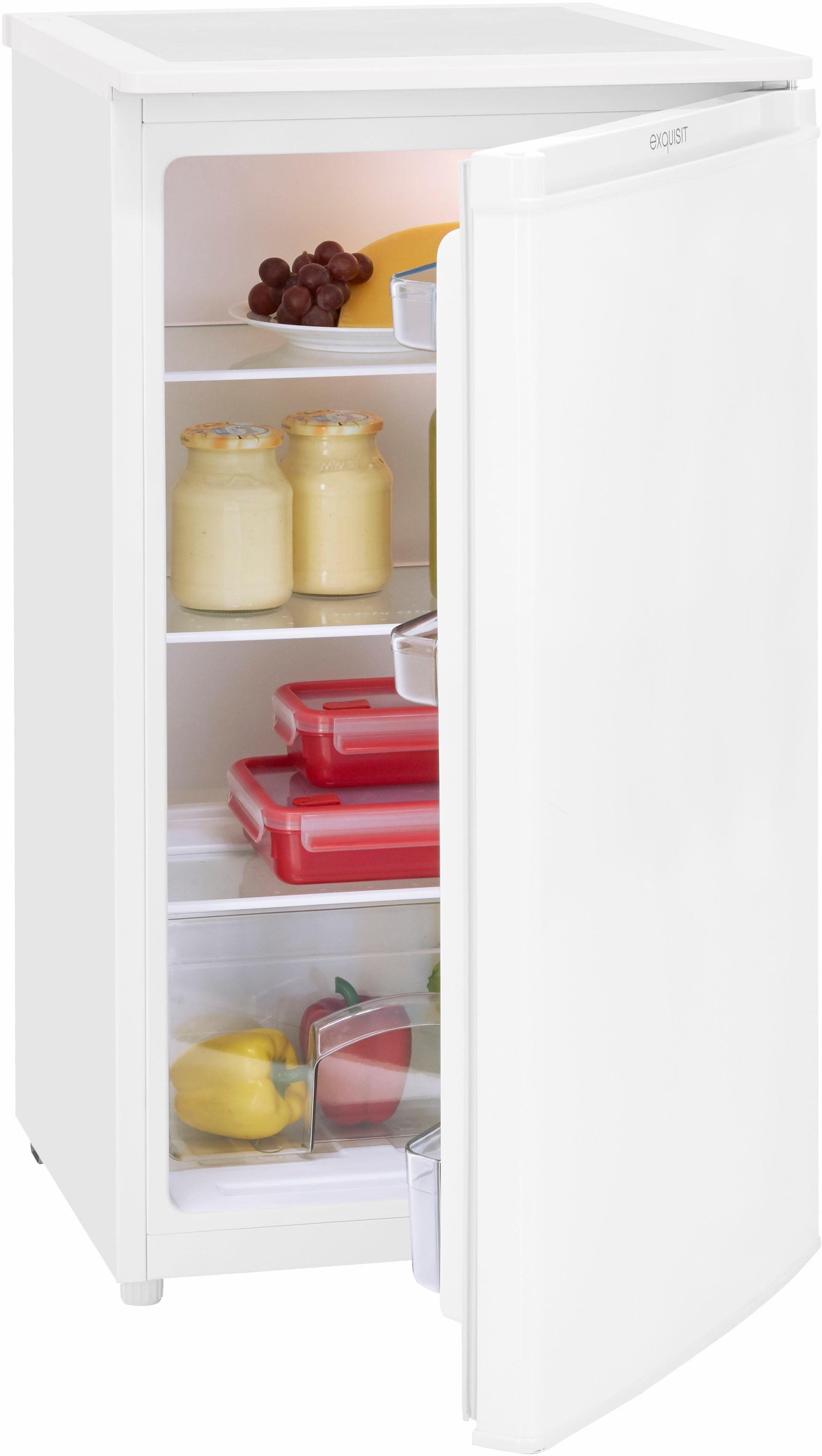 Exquisit Kühlschrank KS 116 KS 116-4.2 RVA++ Top, 85 cm hoch, 48 cm breit