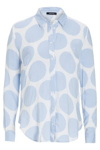 MORE&MORE Bluse, Streifen-Punkte