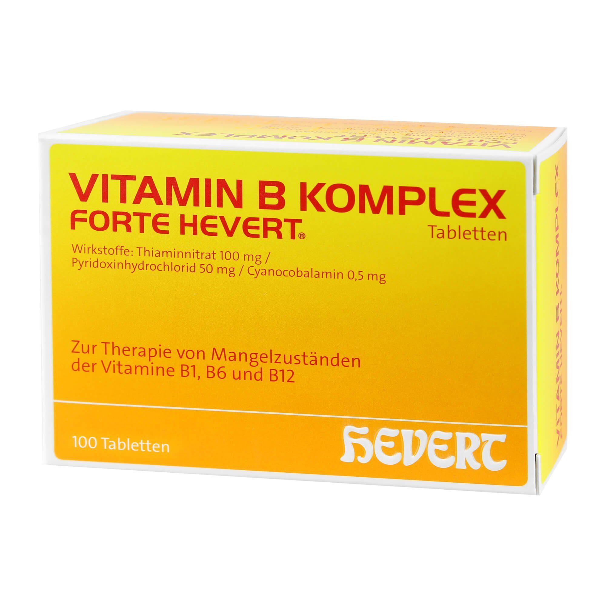 Vitamin B Komplex forte Hevert, 100 St