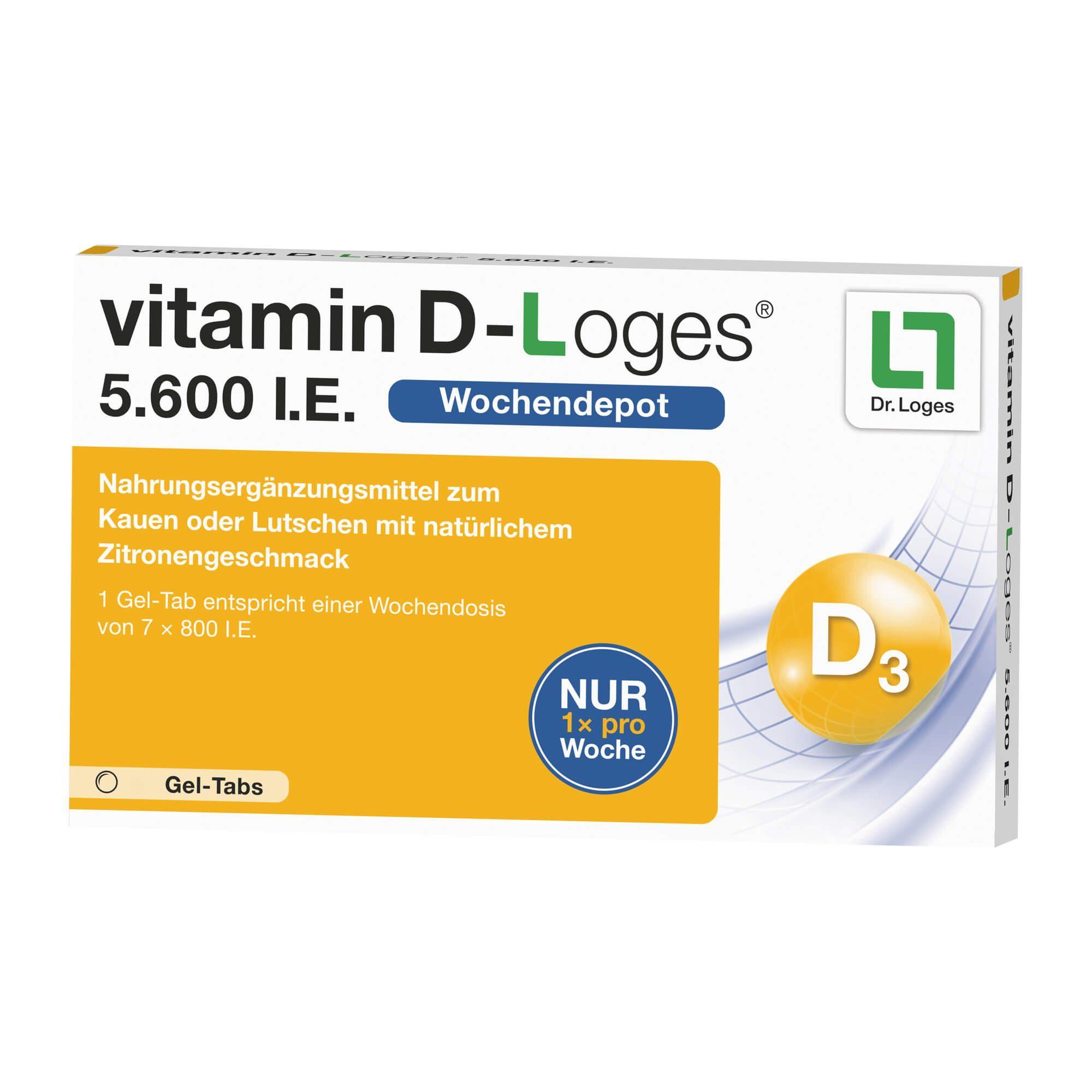 Vitamin D-Loges 5. 600 I. E. Kautabletten , 15 St