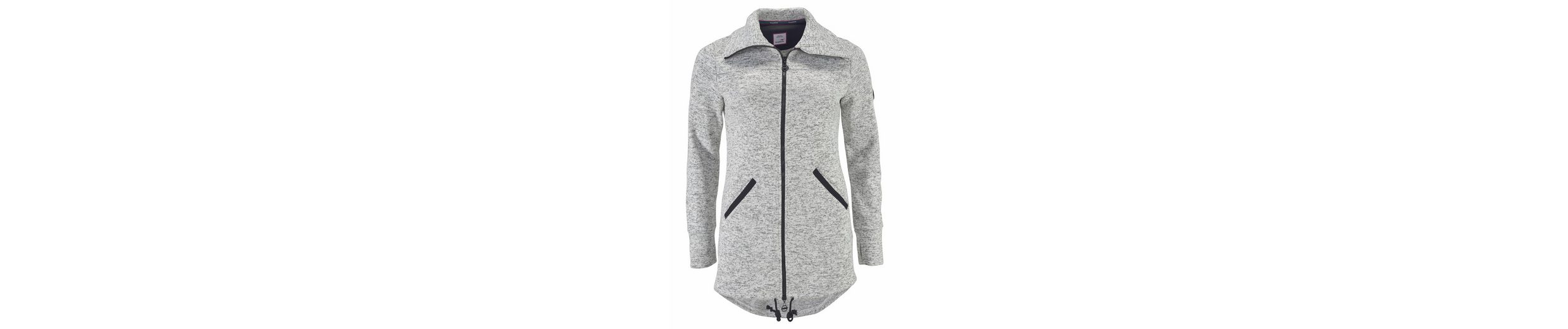 KangaROOS Strickfleecejacke, in trendy Longform