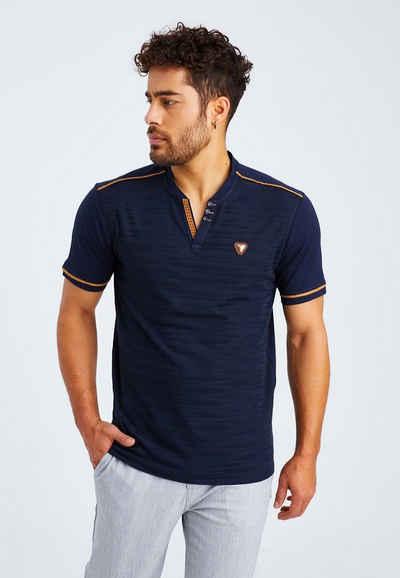 Leif Nelson T-Shirt »Herren T-Shirt V-Ausschnitt LN-55740«
