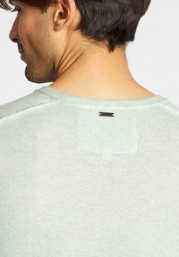 khujo Strickpullover NOARD, mit Knopfleiste auf der Schulter
