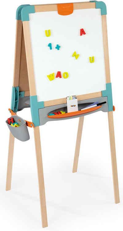 Wandtafel Magnettafel Kinder Echtholz XL 73 x 54 cm beidseitig Kreidetafel
