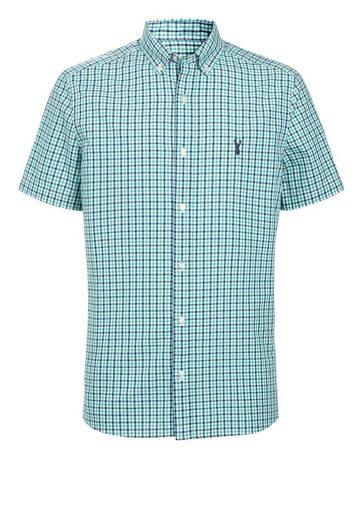Next Kurzärmeliges Hemd mit Vichykaros
