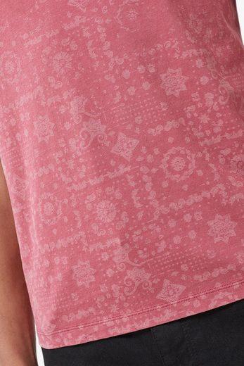 Next T-Shirt mit geometrischem Muster in ausgeblichener Optik
