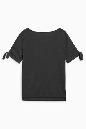 Next T-Shirt mit Bindedetails