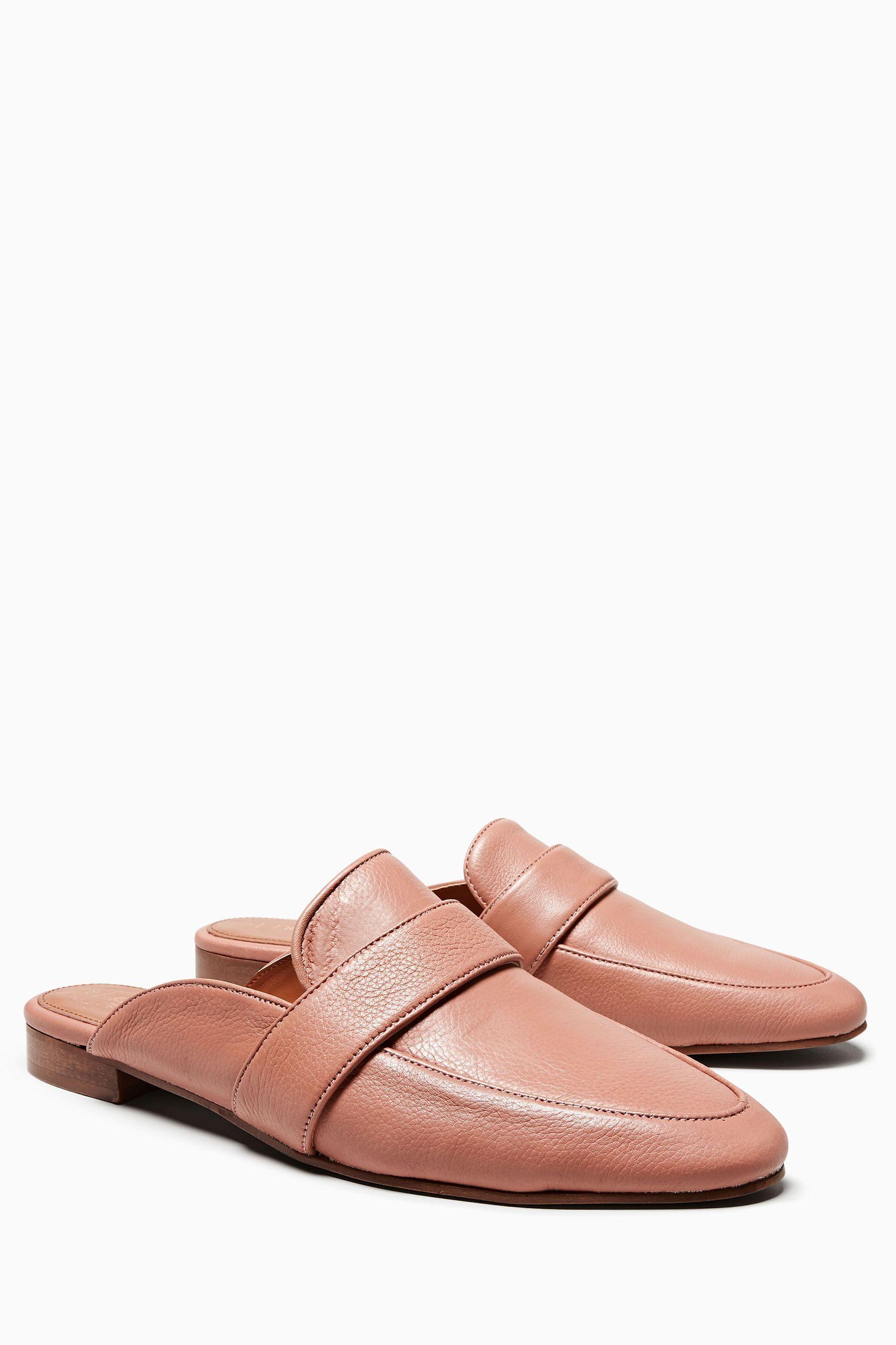 Next Pantoletten im Loafer-Stil aus Leder kaufen  Blush