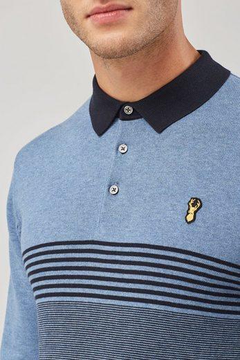 Next Gestreiftes Strick-Poloshirt