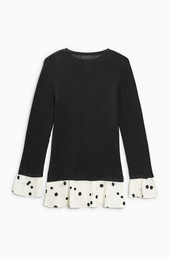 Next Pullover in Lagenoptik mit Rüschen