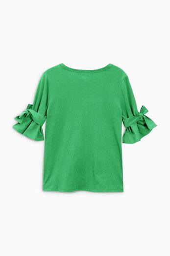 Next T-Shirt mit ausgestellten Ärmeln