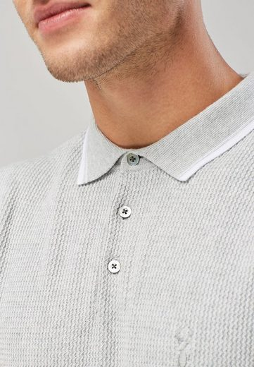 Next Textured Polo Shirt With Edge Details