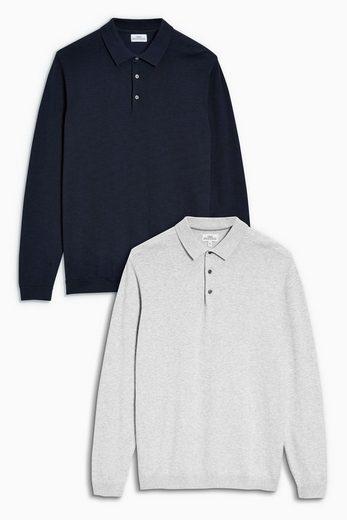 Next Langärmelige Poloshirts, Doppelpack 2 teilig