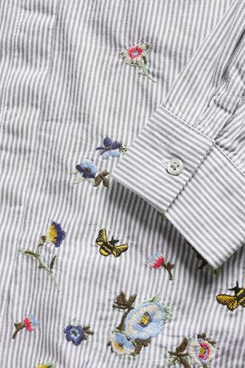 Next Striped Shirt With Embroidery
