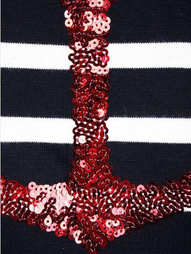 Alba Moda Pullover mit paillettenbesetztem Ankermotiv im Vorderteil
