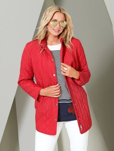 Miamoda Slightly Quilted Jacket With Adjustable Tie At The Waist