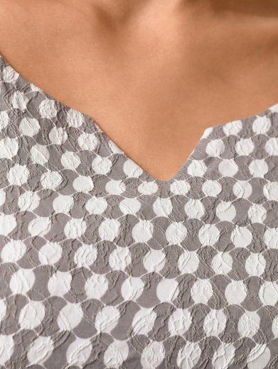 Alba Moda Kleid im Jacquard-Tupfendessin