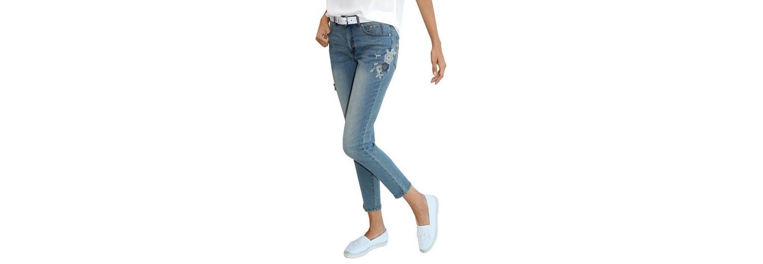 Günstig Kaufen Professionelle Bekommen Amy Vermont Jeans mit Blütenapplikationen IzZIh