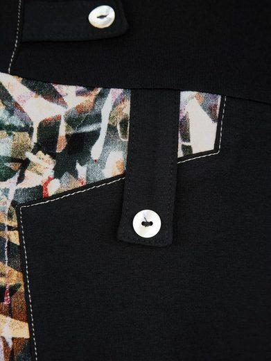 Miamoda Long Shirt With Printed Inserts