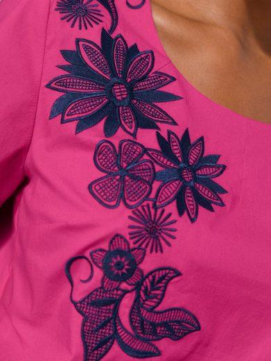 Alba Moda Blusenshirt mit Blütenstickereien