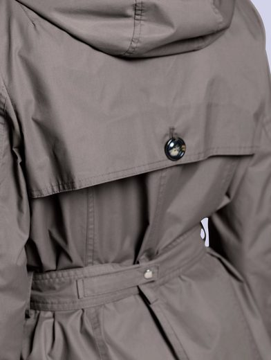 Alba Moda Trenchcoat mit abknöpfbarer Kapuze