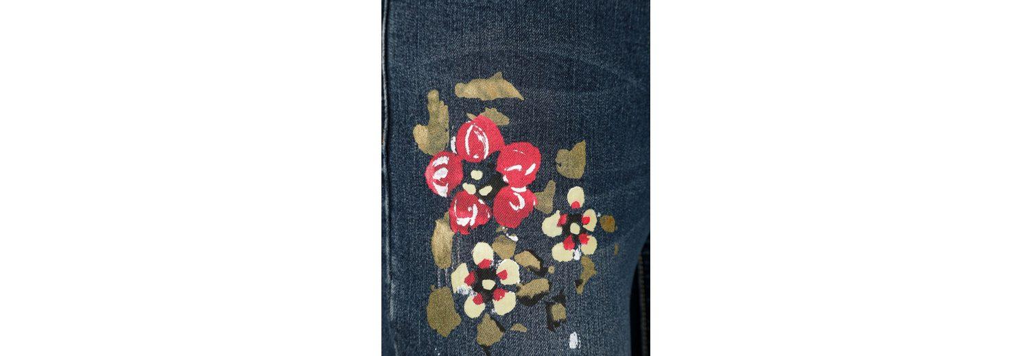 Amy Vermont Jeans mit handbemalter Blütenapplikation Billig Verkauf Bester Verkauf Spielraum Günstiger Preis Spielraum Finden Große Günstiger Online-Shop VuD2t